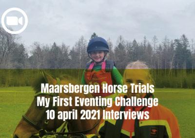 Maarsbergen Horse Trials My First Eventing Challenge 10 april 2021 Interviews
