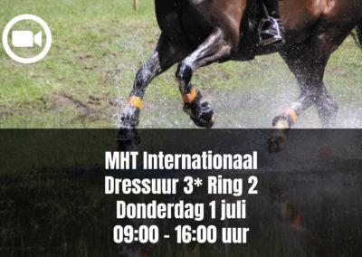 MHT Internationaal Dressuur 3* Ring 2 – Donderdag 1 juli 09.00 – 16.00 uur