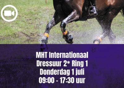 MHT Internationaal Dressuur 2* Ring 1 – Donderdag 1 juli 09.00 – 17.30 uur