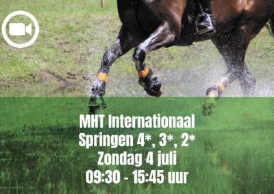 MHT Internationaal Springen 4*, 3*, 2* – Sunday 4 july 09.30 – 15.45 uur